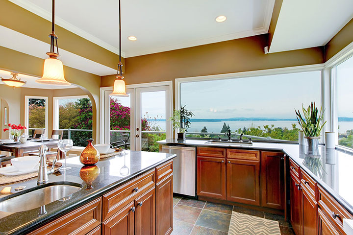 granite countertops by the sea